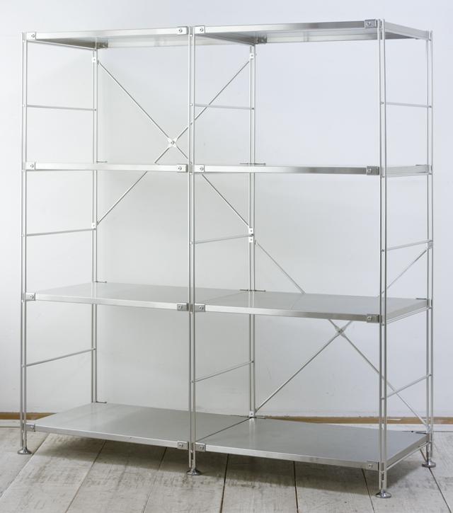 無印良品「ステンレスユニットシェルフ・ステンレス棚4段セット」-01