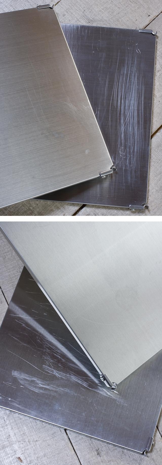 無印良品「ステンレスユニットシェルフ・ステンレス棚4段セット」-08