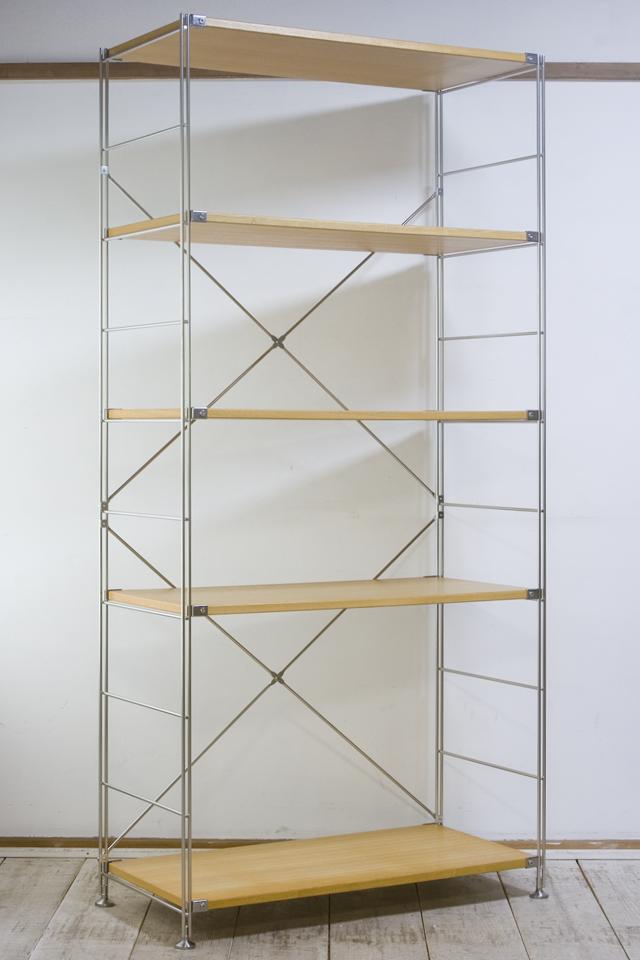 無印良品「ステンレスユニットシェルフ・タモ材棚セット・ワイド大」-01