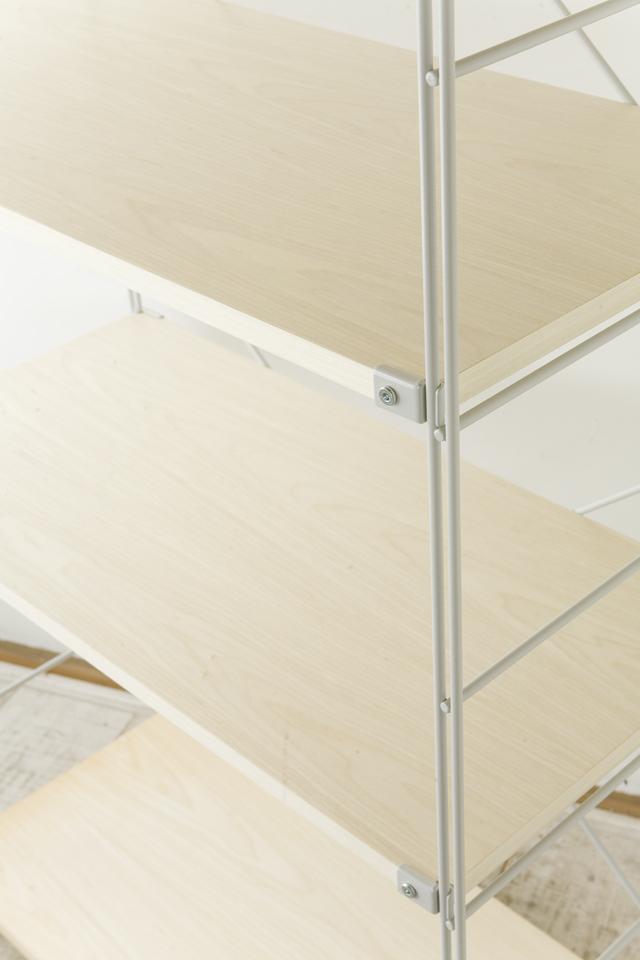 無印良品「スチールユニットシェルフ・木製棚セット・ワイド大・グレー」-03