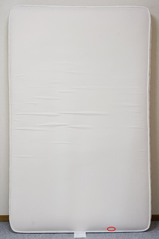 無印良品「タモ材ベッドフレーム・ブラウン・セミダブル|高密度ポケットコイルマットレス・セミダブル」-11a
