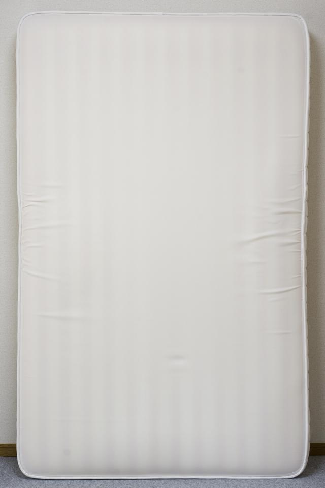 無印良品「タモ材ベッドフレーム・ブラウン・セミダブル|高密度ポケットコイルマットレス・セミダブル」-12
