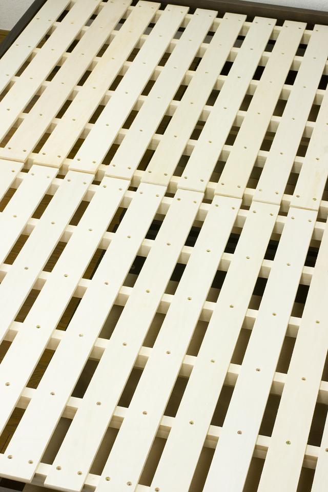 無印良品「タモ材ベッドフレーム・ブラウン・セミダブル|高密度ポケットコイルマットレス・セミダブル」-15
