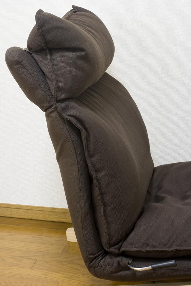 無印良品「ハイバックリクライニングソファ・1シーター・ポリエステル平織・ブラウン」-05