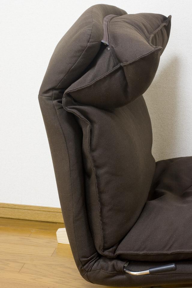 無印良品「ハイバックリクライニングソファ・1シーター・ポリエステル平織・ブラウン」-06