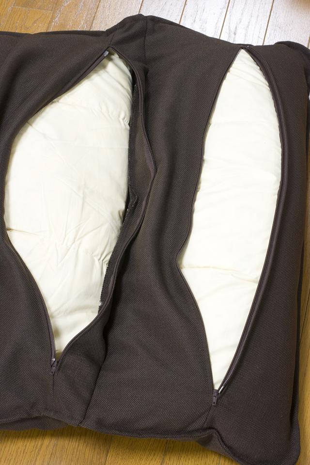 無印良品「ハイバックリクライニングソファ・1シーター・ポリエステル平織・ブラウン」-14