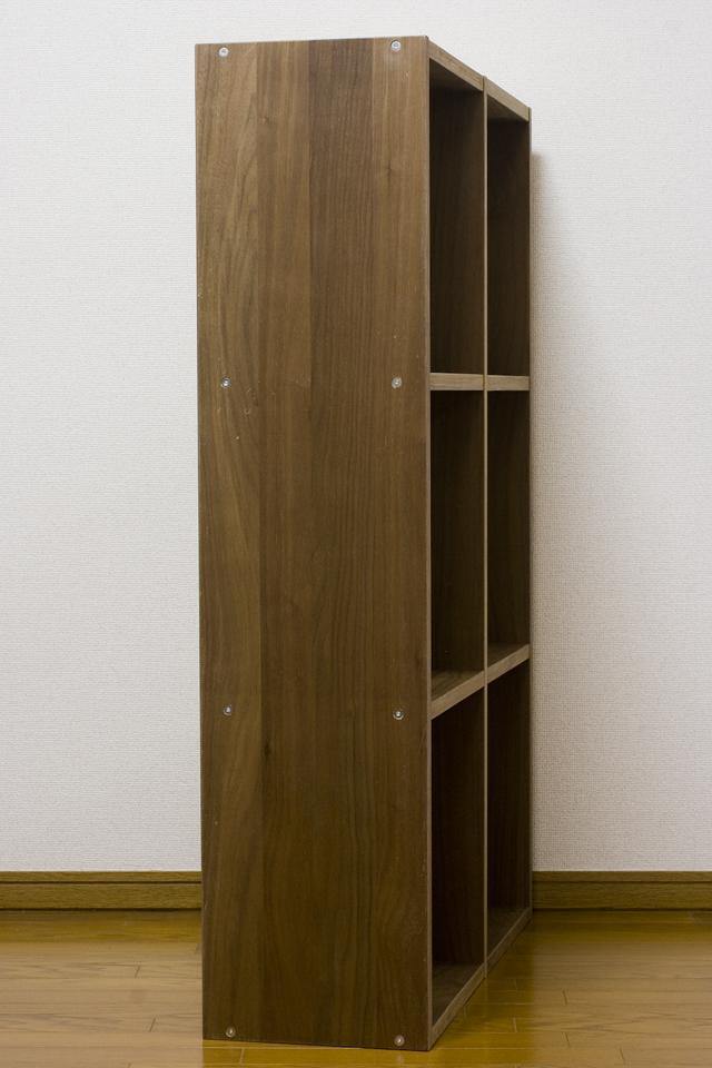 無印良品「スタッキングシェルフセット・3段×2列・ウォールナット材」-03