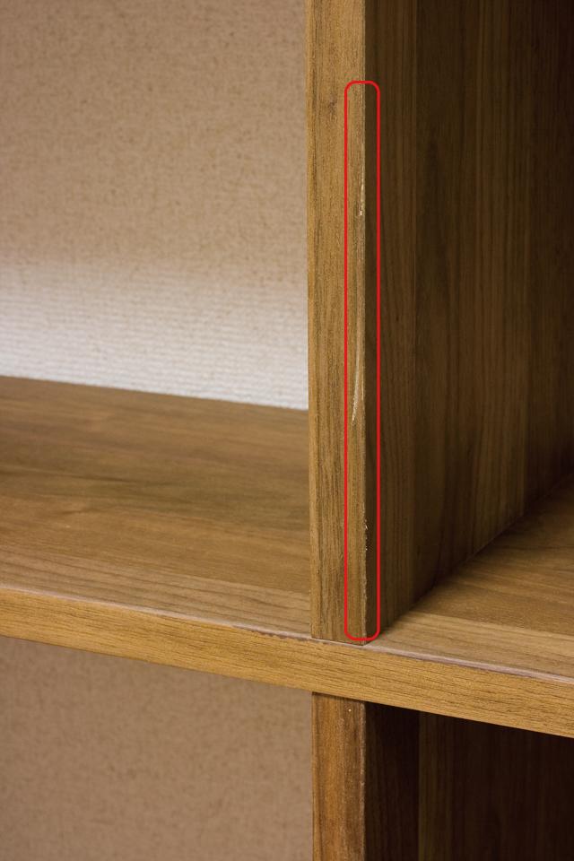 無印良品「スタッキングシェルフセット・3段×2列・ウォールナット材」-06