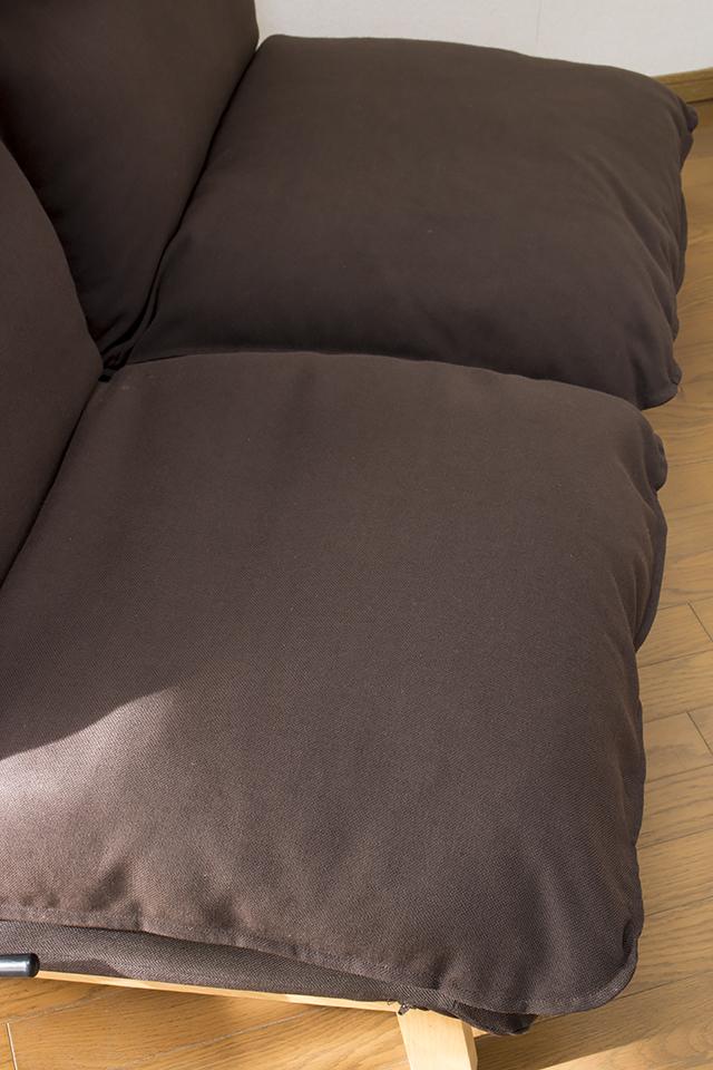 無印良品「ハイバックリクライニングソファ・2シーター・ポリエステル平織・ブラウン」-08