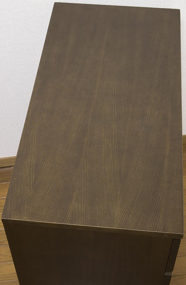 無印良品「タモ材チェストワイド4段・ブラウン」-05